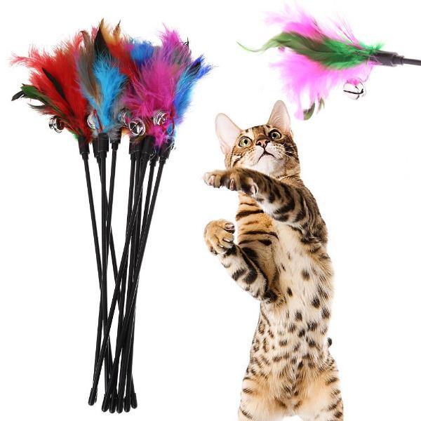 Đồ Chơi Cần Câu Mèo Lông Vũ