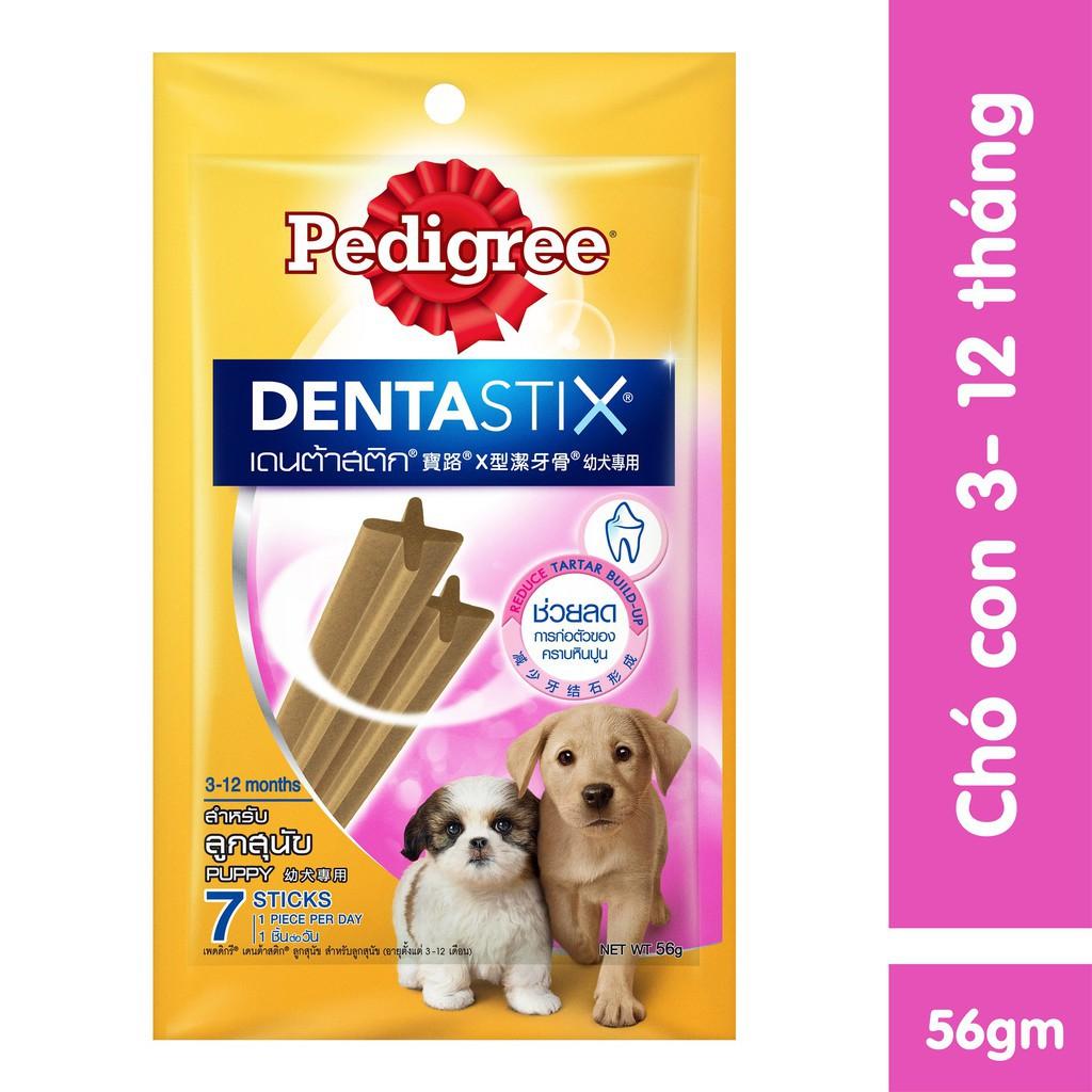 Bánh Xương Sạch Răng Pedigree Dentastix cho Cún nhỏ 56g (Vị Sữa)