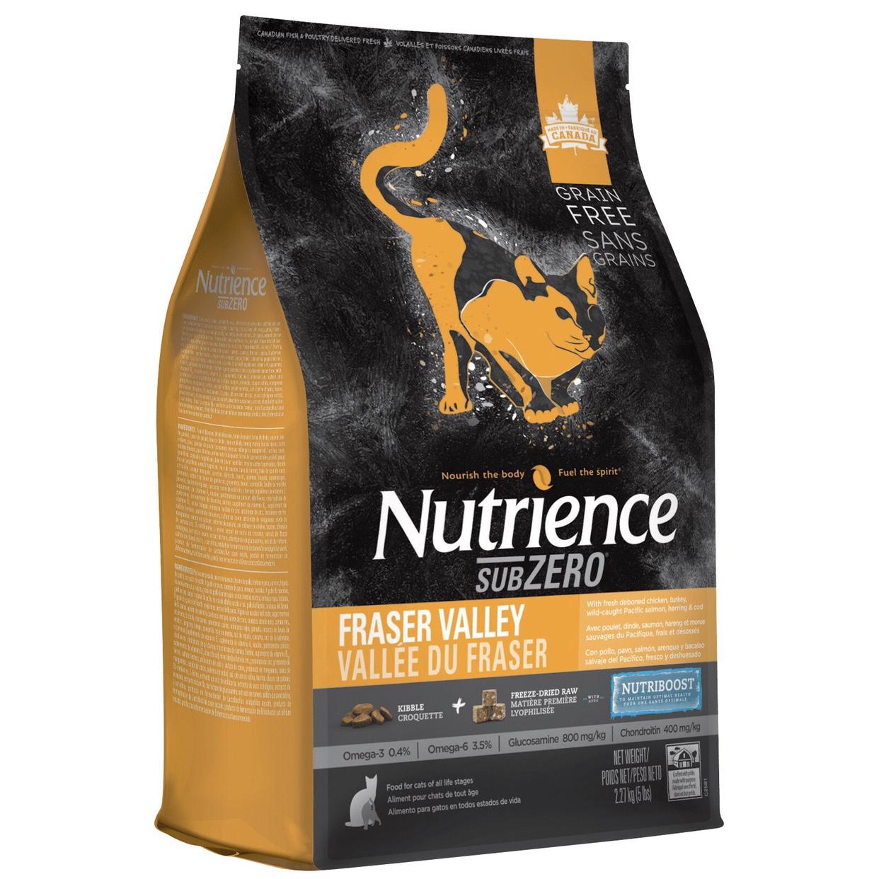 Hạt Mèo Nutrience SUBZERO Thịt Gà, Cá Hồi, Cá Trích, Rau Củ & Trái Cây 5kg