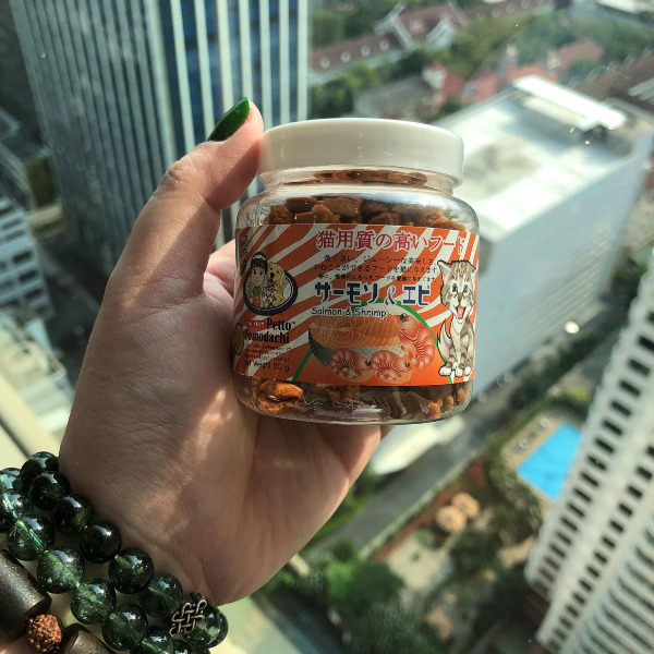 Snack Bánh Thưởng Mèo Thái Lan [Cá hồi & Tôm] 50g
