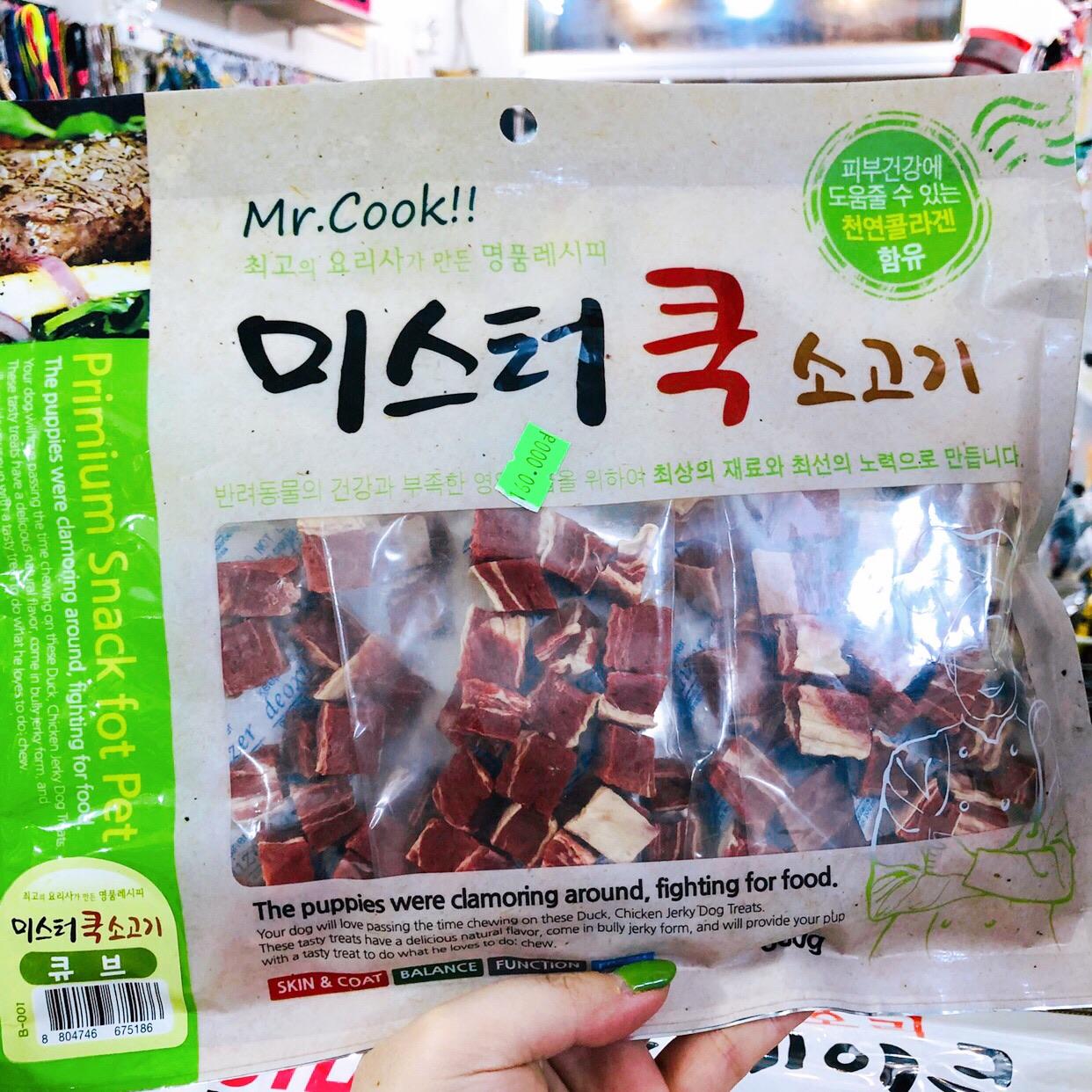 Thịt Bò Sấy [Dạng viên] Mr. Cook Hàn Quốc