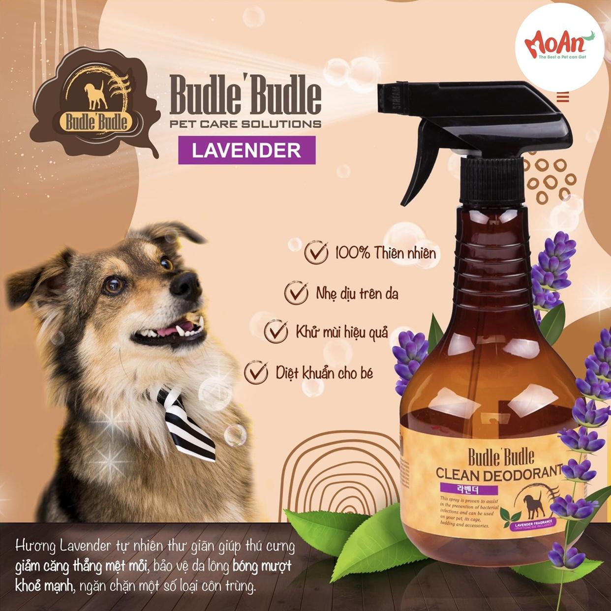 Xịt Budle'Budle Dưỡng lông [Mùi Hoa Oải Hương Lavender] 530ml