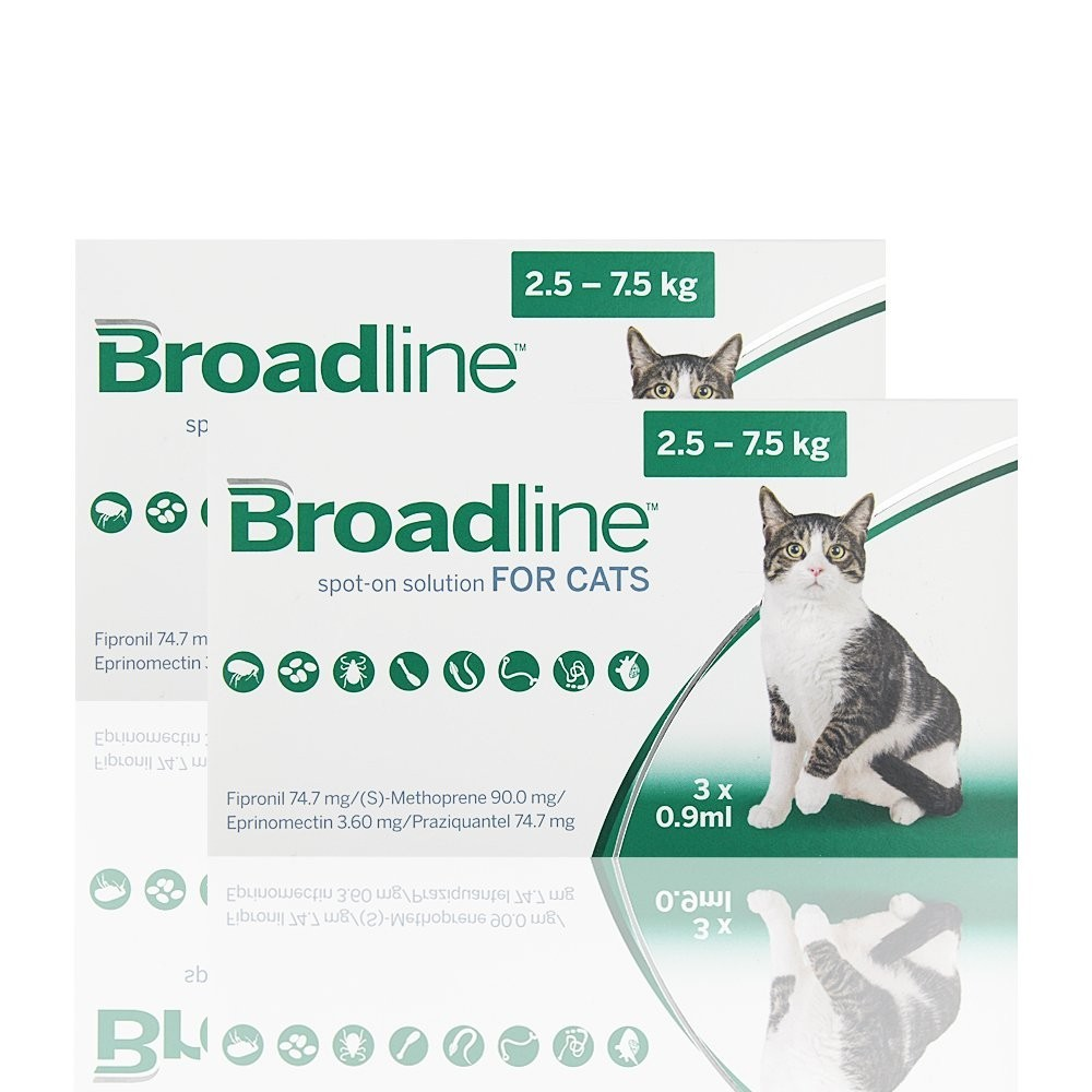 Thuốc Nhỏ Gáy Broadline Phòng Trị Nội Ngoại Ký Sinh Trùng cho Mèo (2.5kg-7.5kg)