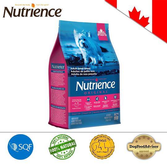 Nutrience ORIGINAL cho Cún size nhỏ (Trên 6 Tháng Tuổi) Thịt Gà, Rau Củ Và Trái Cây Tự Nhiên 2.5kg