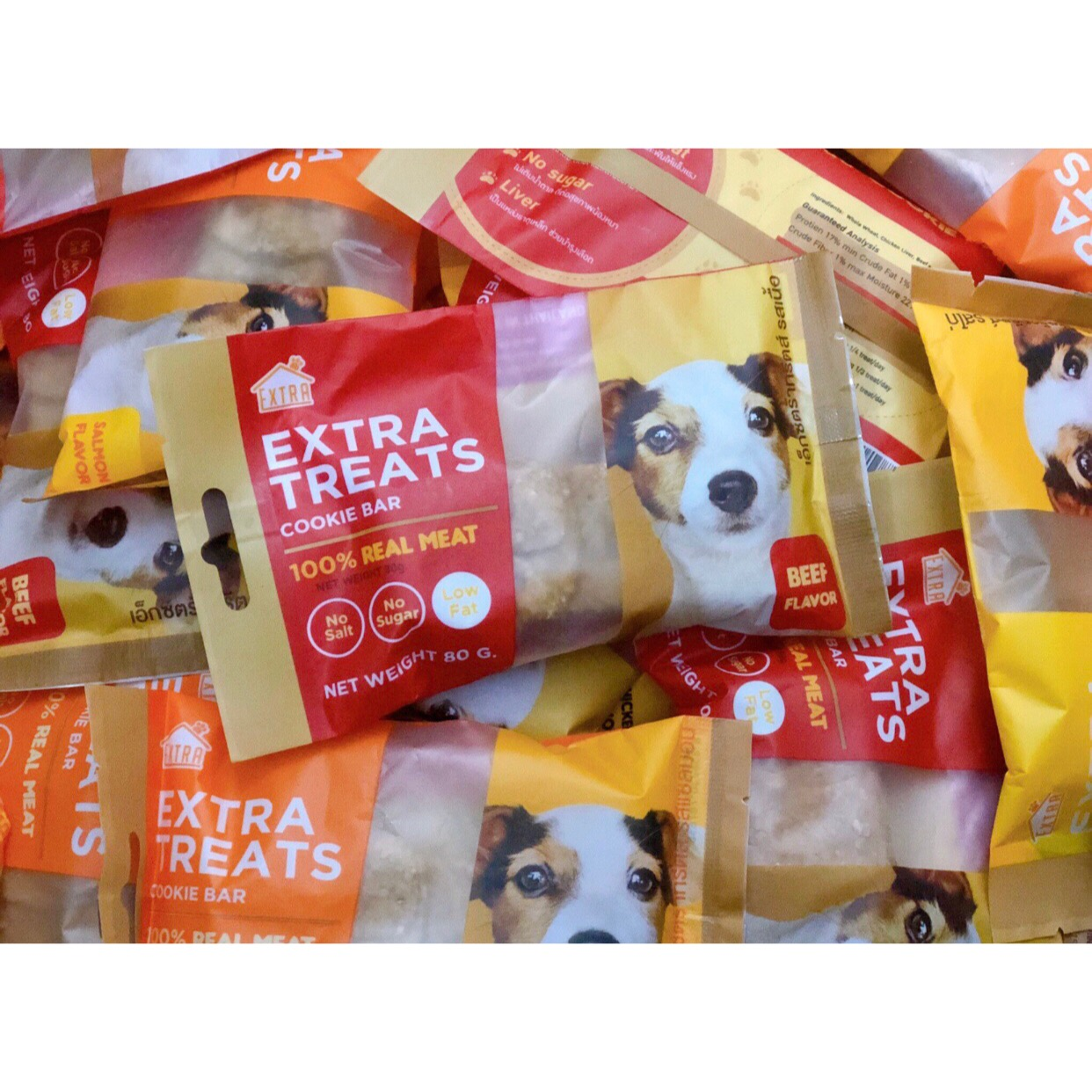 Bánh Qui Cookie Bar EXTRA TREATS Thái Lan hình Cún [Vị Bò]
