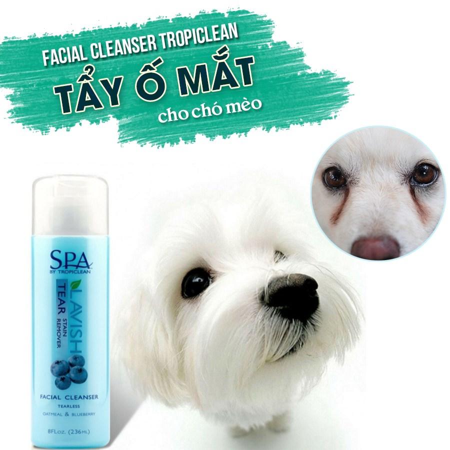 Sữa Rửa Mặt TROPICLEAN Spa Tẩy Ố Vùng Mắt Facial Cleanser Tear Stain Remover