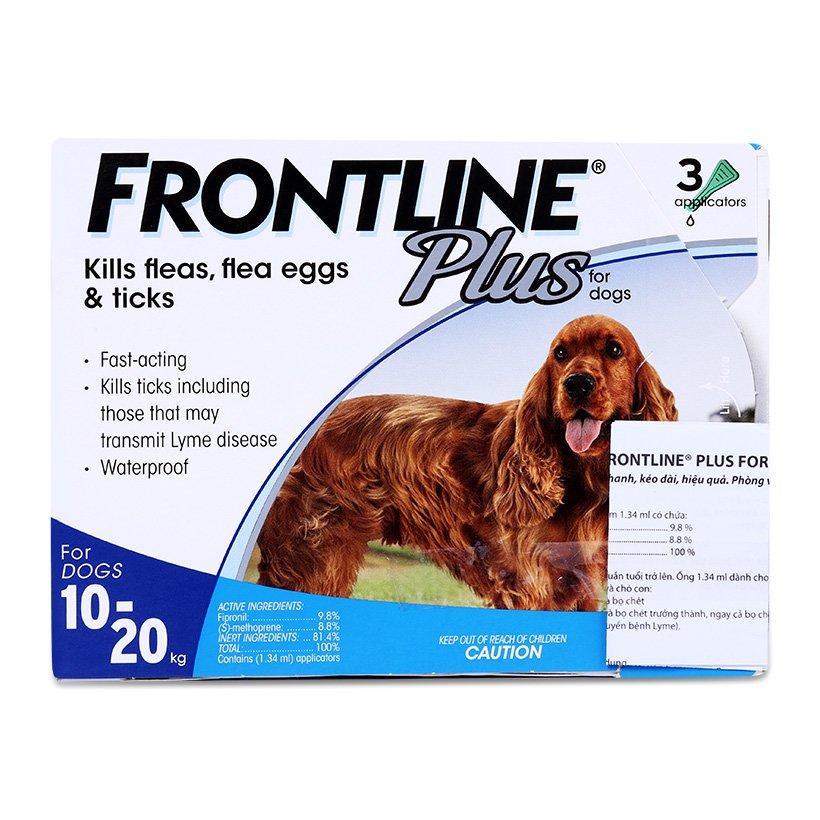 Thuốc Nhỏ Gáy Phòng Trị Ve Rận FRONTLINE® Plus Pháp 1.34ML (10kg-20kg)