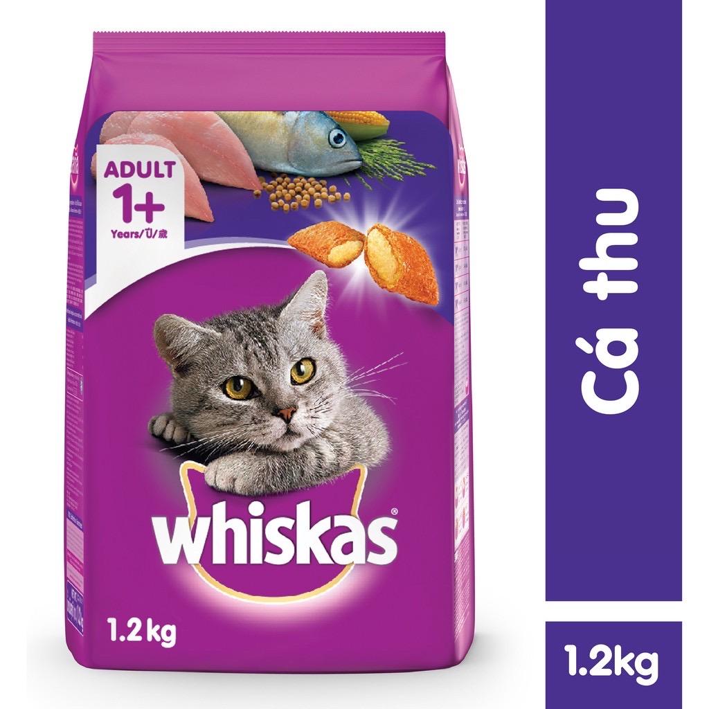 Hạt Mèo Whiskas Adult Cá Thu Mackerel 1.2kg
