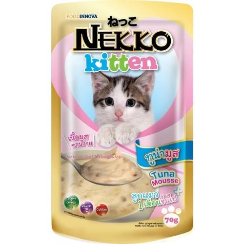 Pate Nekko Kitten Tuna Mousse 70g (12 gói)