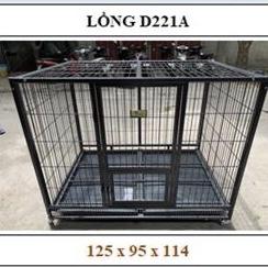 Chuồng | Lồng Sắt Sơn Tĩnh Điện Nan Ống (có bánh xe) 125x95x114cm