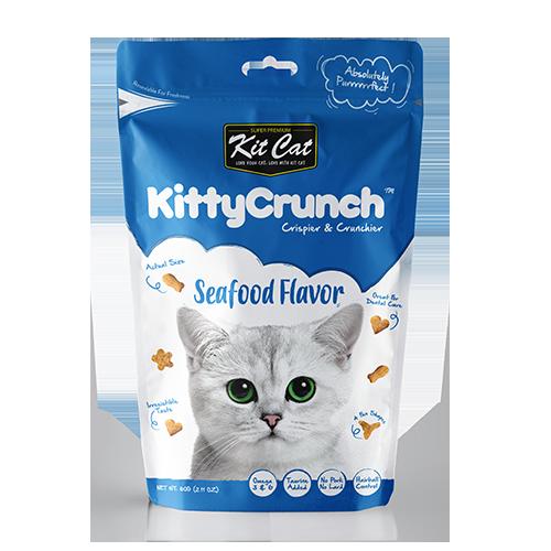 Snack Bánh Thưởng Mèo KitCat Kitty Crunch Seafood [Hải Sản] 60g