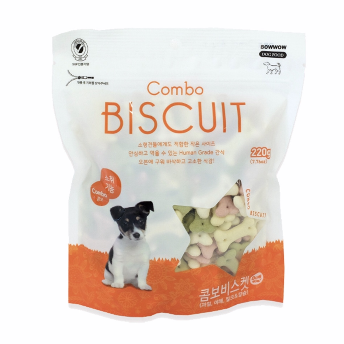 Bánh Qui Biscuit Hỗn Hợp Bow Wow 220g