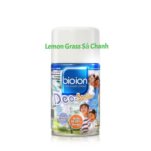 Bình Xịt Diệt Khuẩn & Khử Mùi [Sả chanh] Bioion Deo-Sanitizer Malaysia 250ml