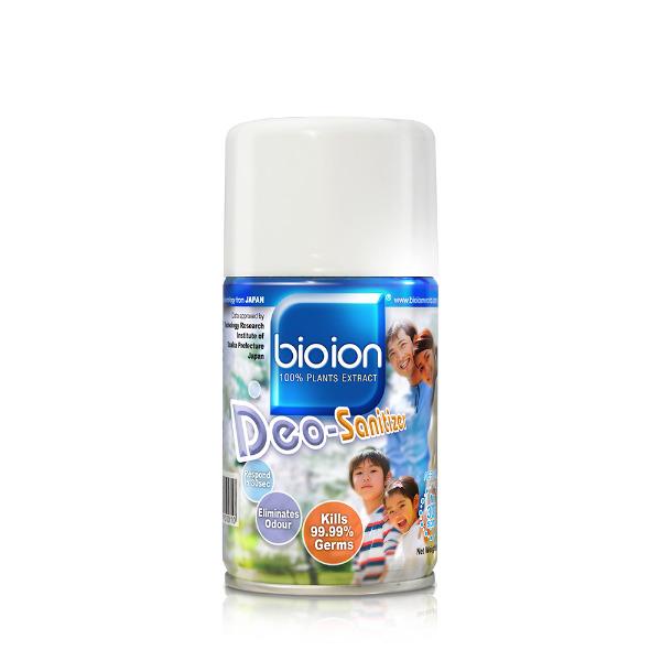 Bình Xịt Diệt Khuẩn & Khử Mùi Bioion Deo-Sanitizer Malaysia 250ml