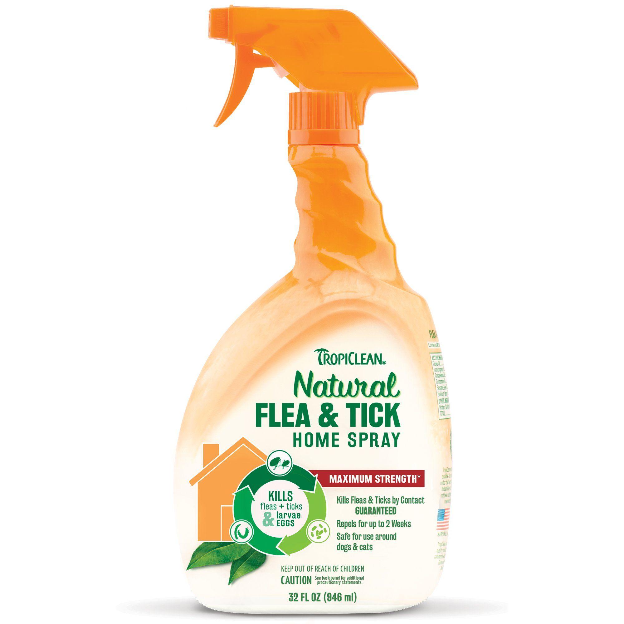 Xịt Diệt Khuẩn Khử Mùi & Ve Rận TROPICLEAN Flea & Tick Home Spray Mỹ 946ml
