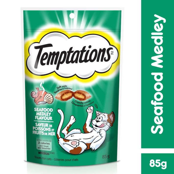 Snack Bánh Thưởng Mèo Temptations [Hải Sản] 85g