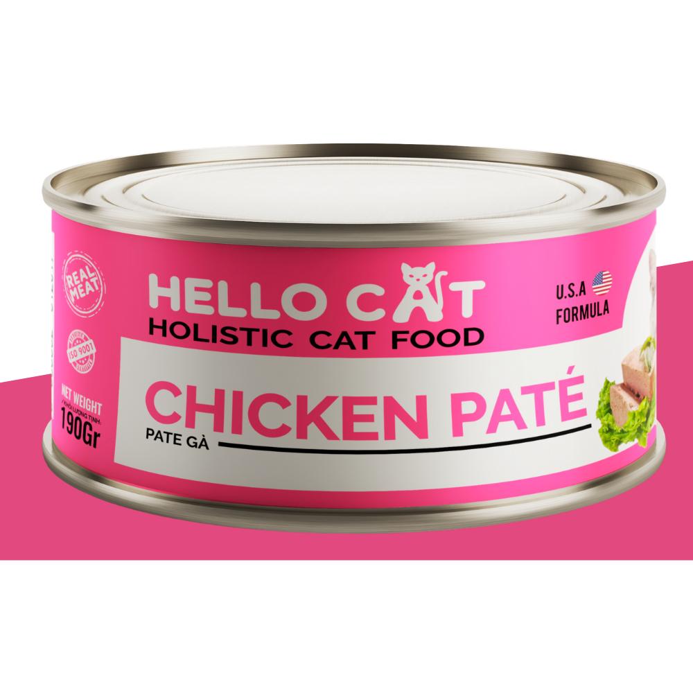 Pate HELLO CAT 190g [Thịt Gà]