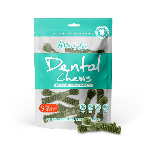 Xương Gặm Sạch Răng Altimate Pet Dental Chews Mint Bạc Hà [Hình Bàn Chải 9 Xương Medium]