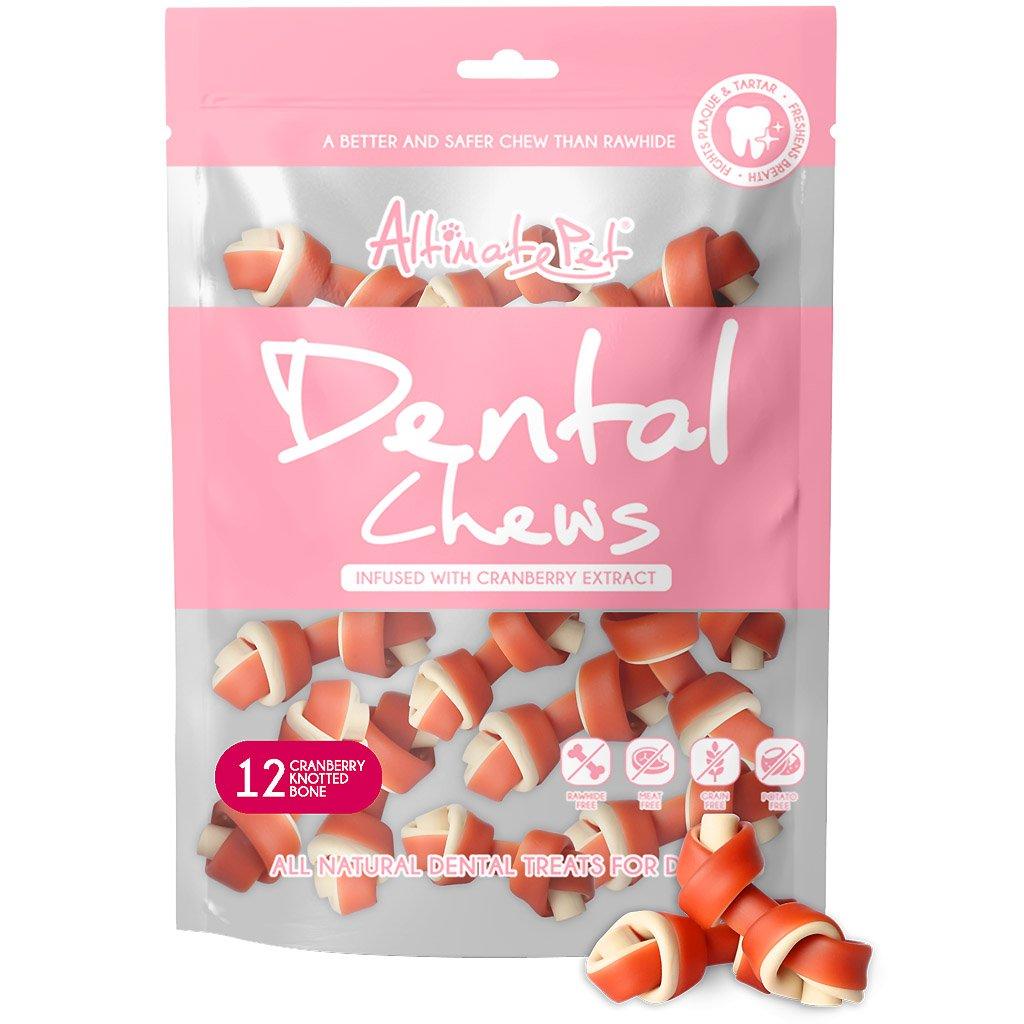 Xương Gặm Sạch Răng Altimate Pet Dental Chews Cranberry Việt Quất [Hình Nơ 12 Xương]