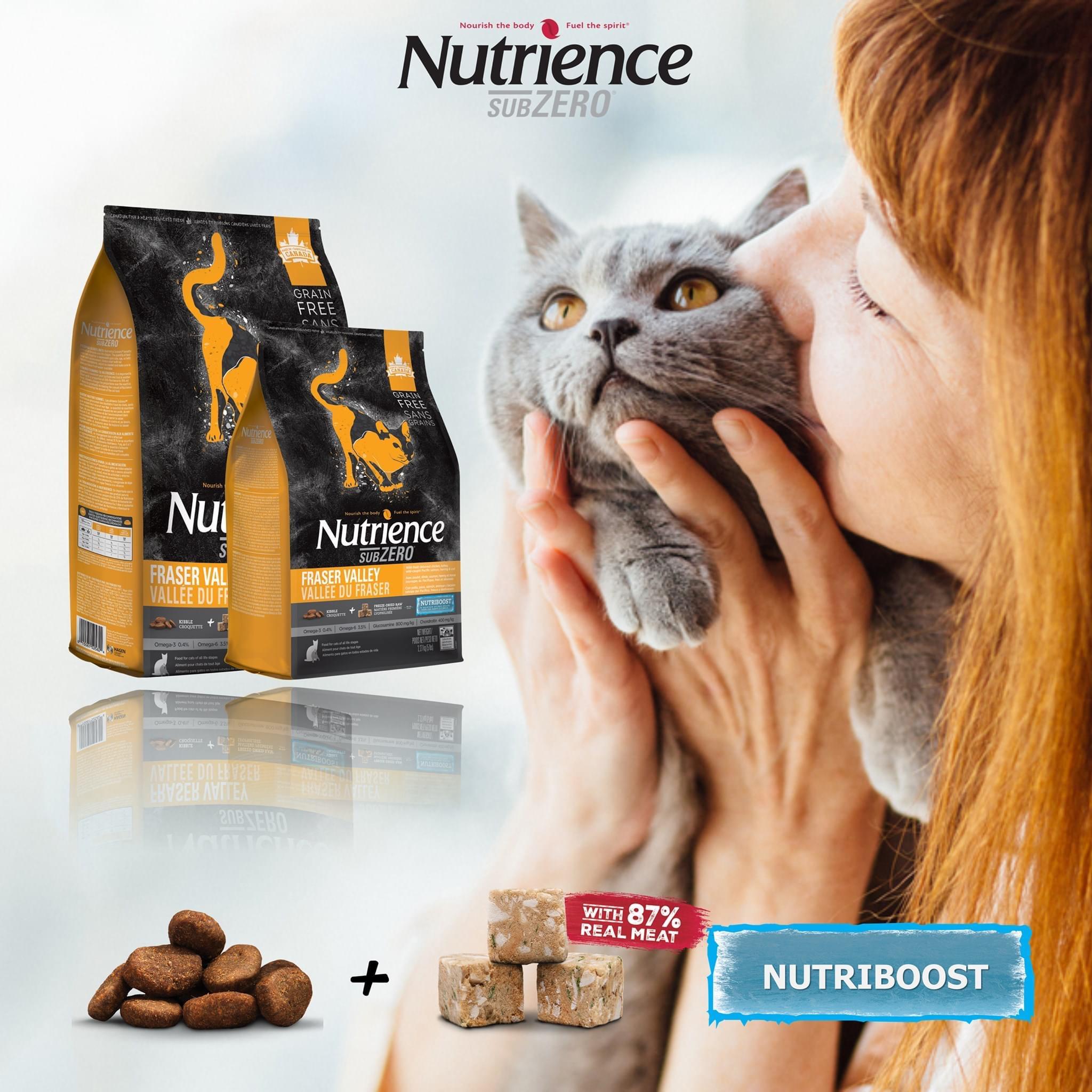 Hạt Mèo Nutrience SUBZERO Thịt Gà, Cá Hồi, Cá Trích, Rau Củ & Trái Cây 1.13kg