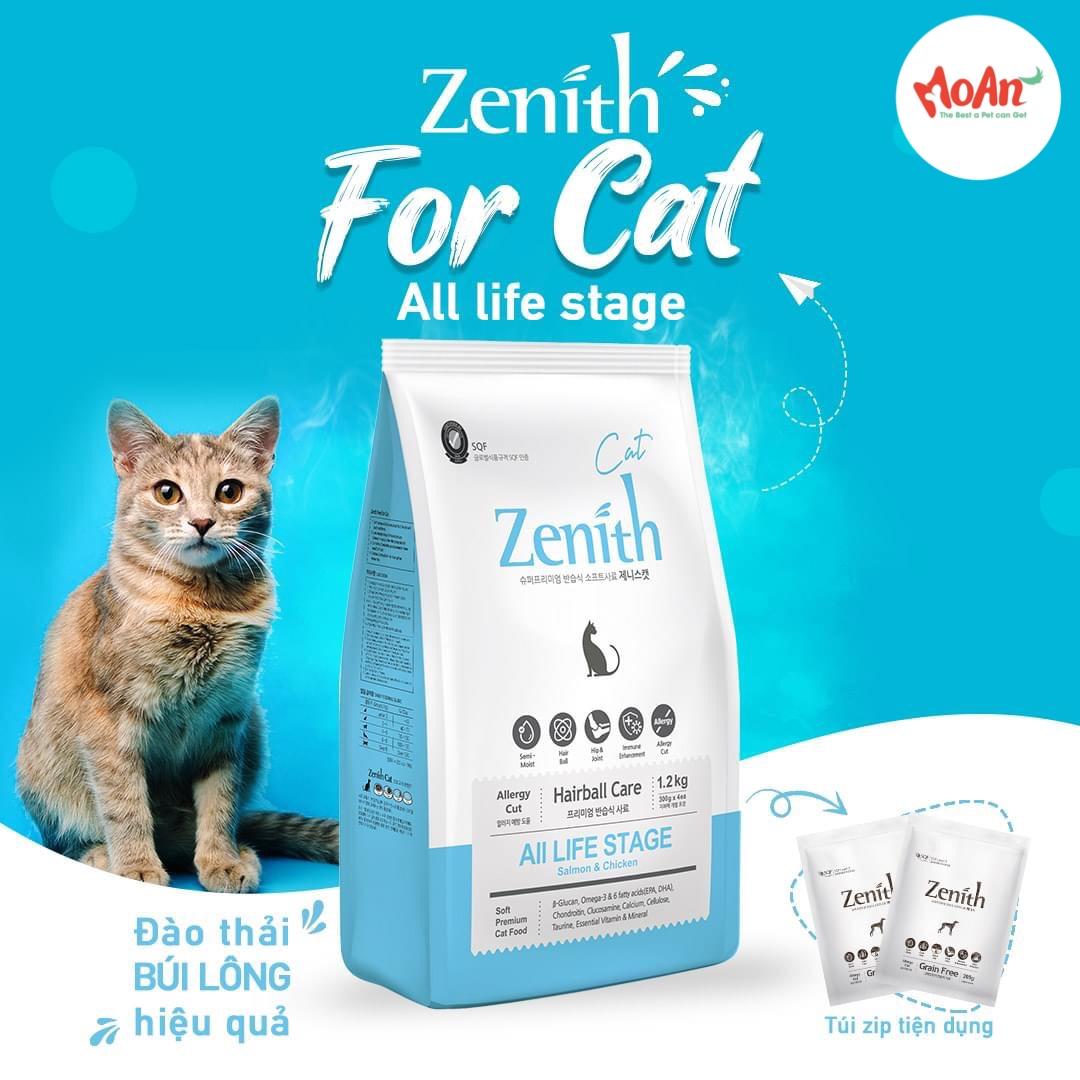 Hạt Mềm Zenith cho Mèo 1.2kg