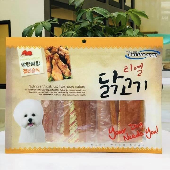 Ức Gà Sấy Mềm (Dạng Sợi) Pet-The-Man Hàn Quốc