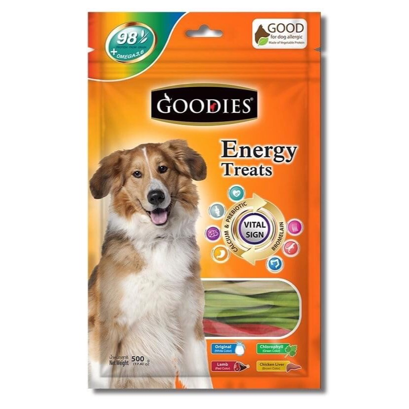 Goodies Energy Treat Triple Twist (dạng que xoắn lớn) 500g