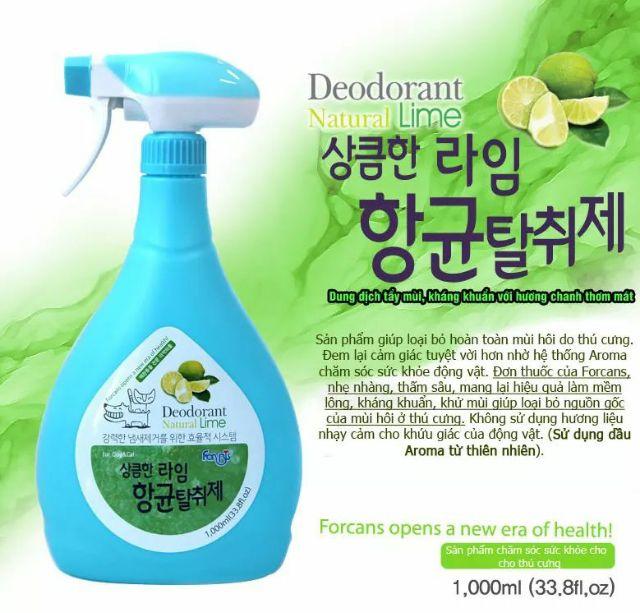 Xịt Diệt Khuẩn & Khử Mùi Forbis Hàn Quốc [Chanh] 1000ml
