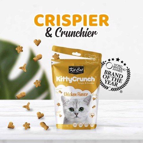 Snack Bánh Thưởng Mèo KitCat Kitty Crunch Chicken [Gà] 60g