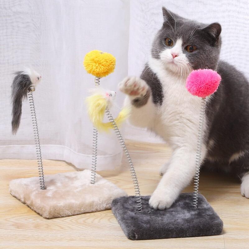 Đồ Chơi Bàn Lò Xo cho Mèo