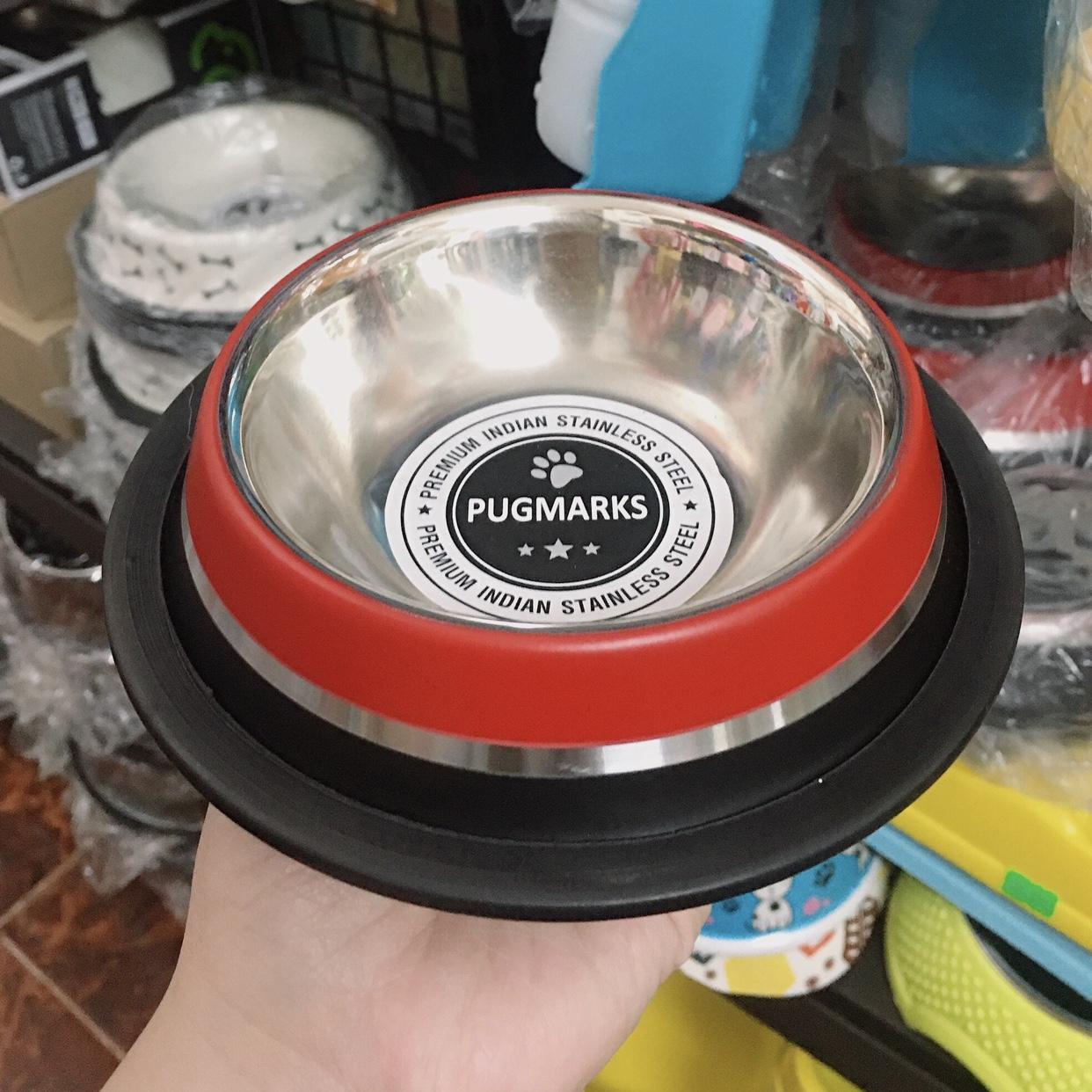 Tô | Chén Melamine Inox Đỏ/ Đen PUGMARKS FEEDY [5 sizes]