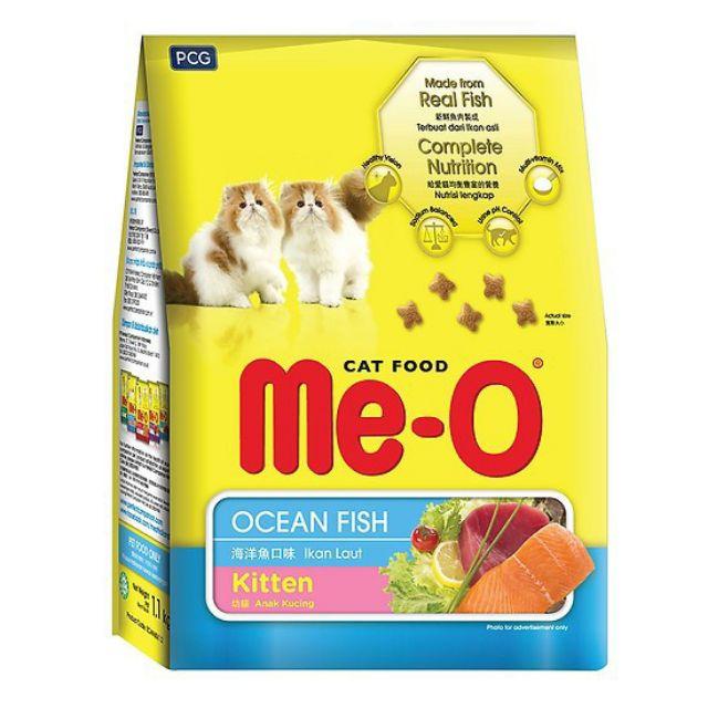 Hạt Mèo Meo-O Kitten Cá Biển Ocean Fish 1.1kg