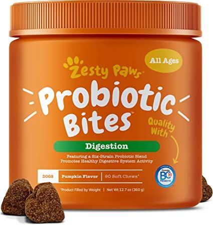 Viên Trị Táo Bón Probiotic Bites Zesty Paws Mỹ (Hộp 90 viên)