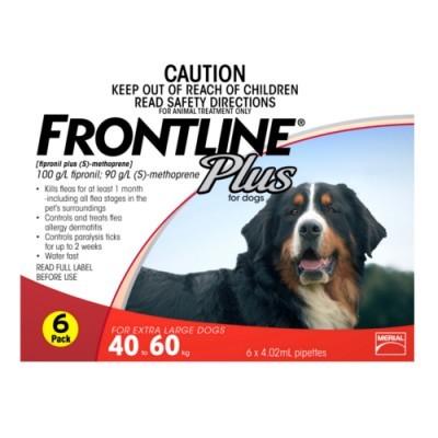 Thuốc Nhỏ Gáy Phòng Trị Ve Rận FRONTLINE® Plus Pháp 4.02ML (40kg-60kg)