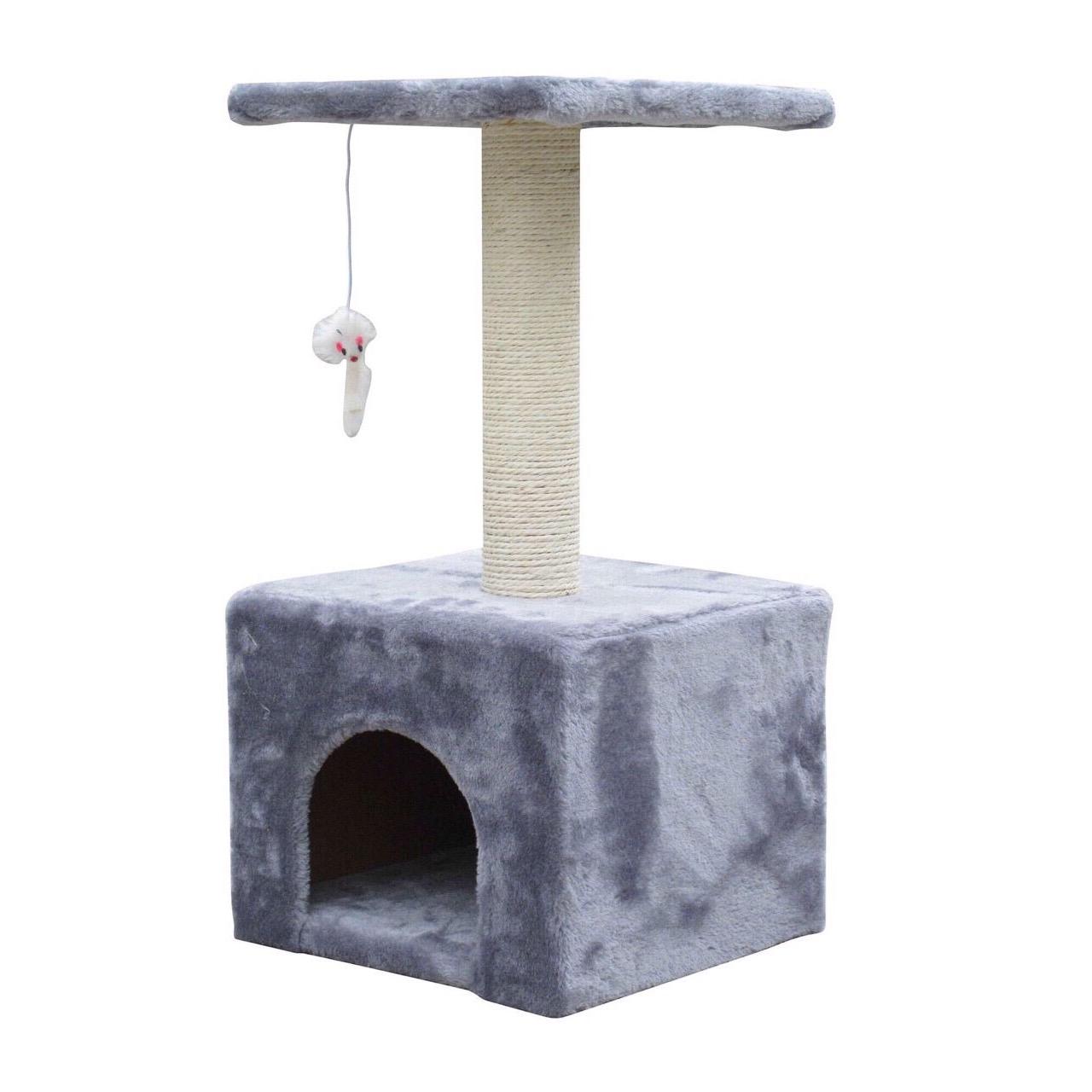 Nhà Cây - Trụ Cào Hộp Vuông 2 Tầng Cho Mèo Cat Tree TC004