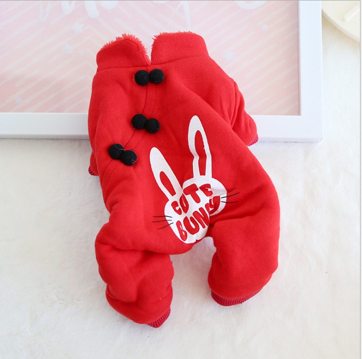 Bộ JumpSuit Liền Quần Cute Bunny Đỏ [Size S - Size XL] 1kg - 10kg