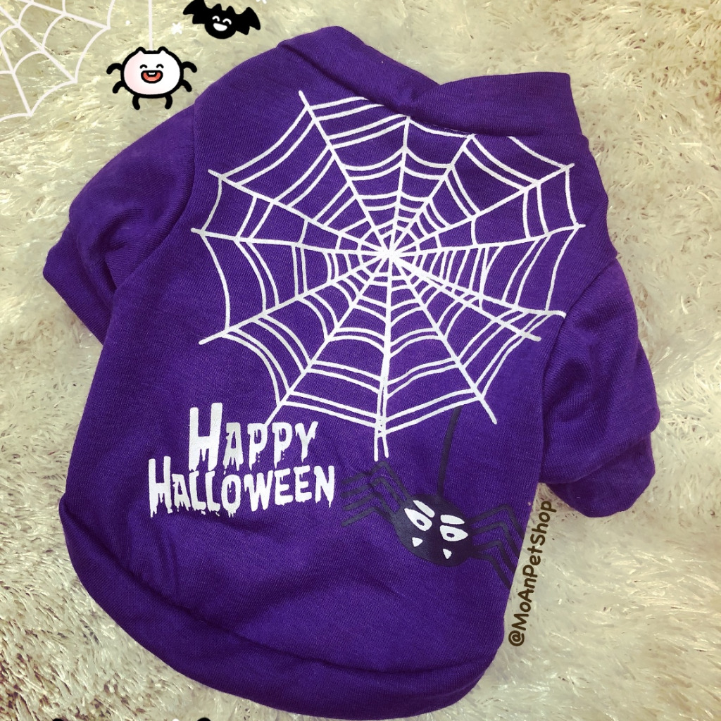 Áo Happy Halloween Nhện [Size S - Size L] 1kg - 9kg