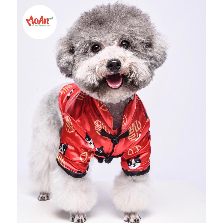 Áo Gấm Đỏ Có Tay T012 [Size S - Size L] 1kg - 9kg