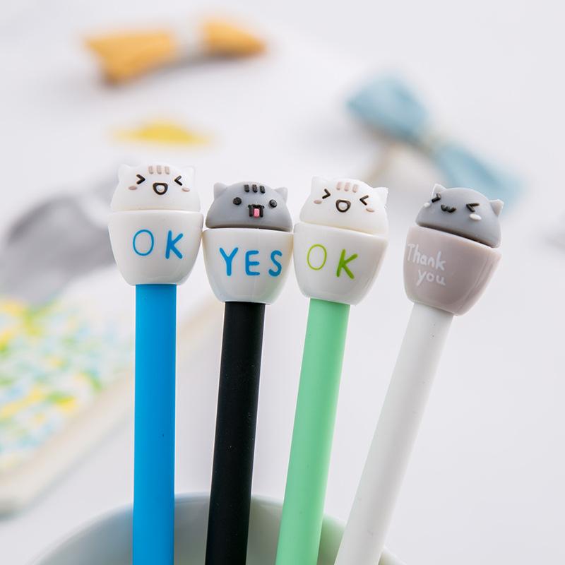 Viết Mực Gel Hình Mèo Ok | Yes | Thank You PEN006
