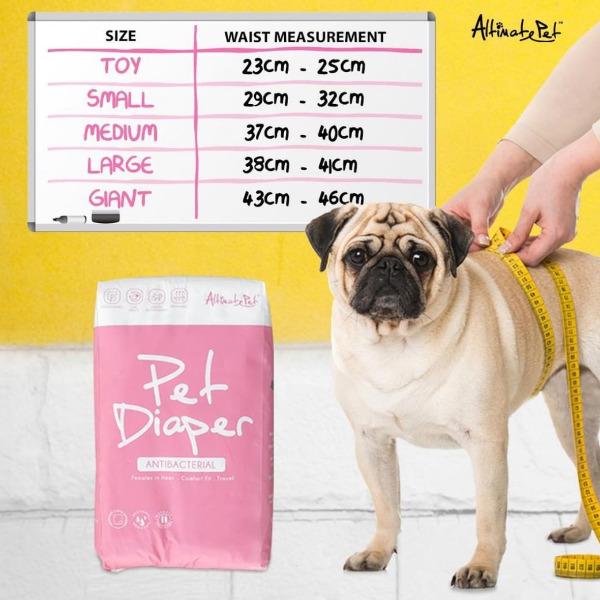 Tã Bỉm | Tã Quần Vệ Sinh Altimate Pet Diaper size GIANT 25-40kg (Gói 11 tã)