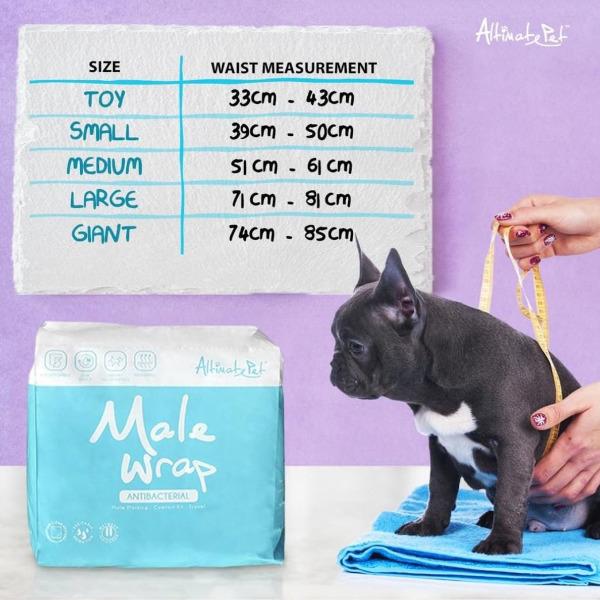 Tã Quấn | Tã Vệ Sinh Bé Trai Altimate Pet Male Wrap size MEDIUM 7-15kg (Gói 9 tã)
