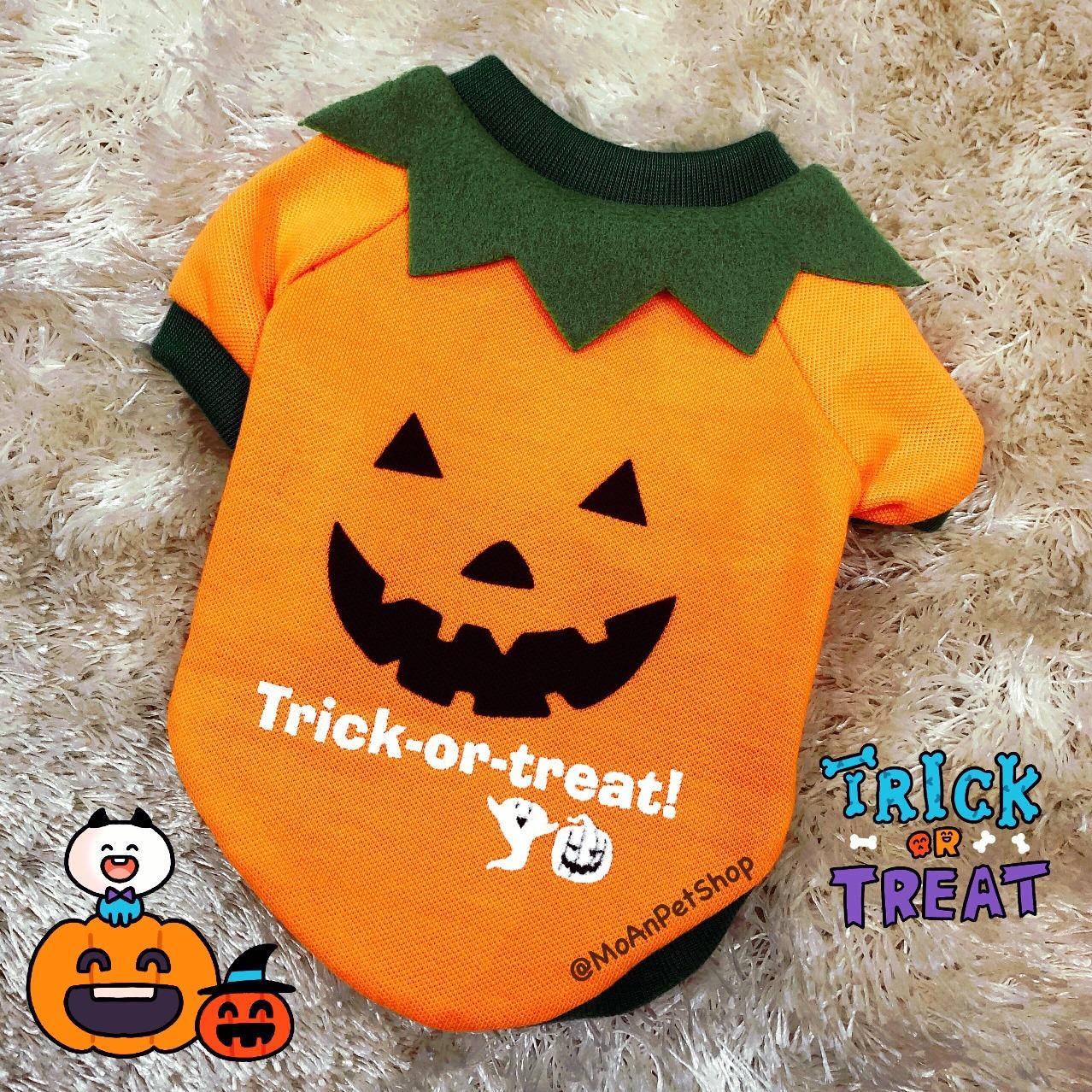 Áo Halloween Trick-or-treat có Tay 1kg - 15kg