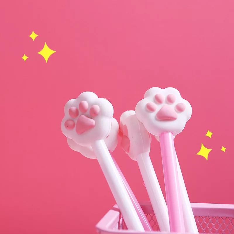 Viết Mực Gel Hình Bàn Chân Cún Mèo Hồng PEN007