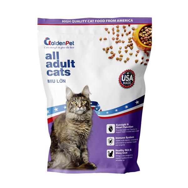 Hạt Mèo Golden Pet All Adult Cats Miu Lớn 900g