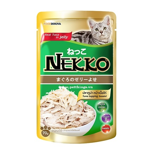 Pate Nekko Tuna topping Sasami in Jelly 70g