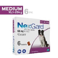 Viên Nhai Mềm Phòng Trị Ve Rận & Viêm Da Ghẻ NexGard Pháp (10kg-25kg)