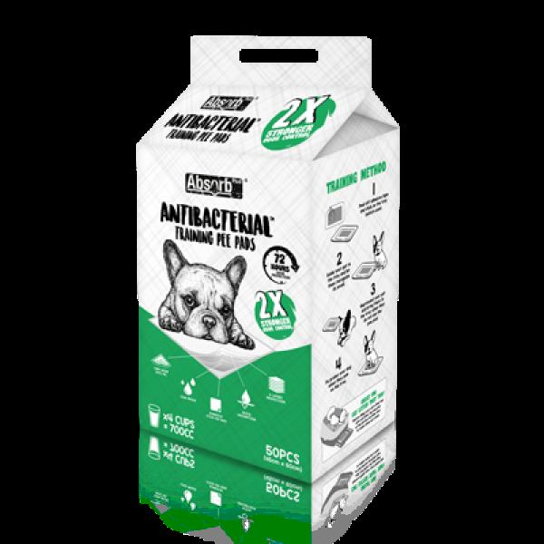 Tã Lót Vệ Sinh Diệt Khuẩn Absorb Plus Antibacterial Pet Sheets 45x60cm (Gói 50 miếng)