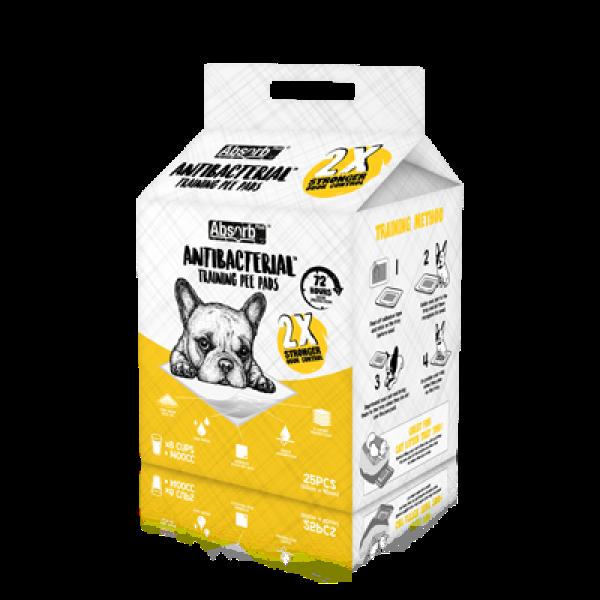 Tã Lót Vệ Sinh Diệt Khuẩn Absorb Plus Antibacterial Pet Sheets 60x90cm (Gói 25 miếng)