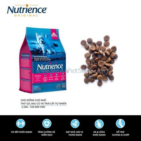 Nutrience ORIGINAL cho Cún size nhỏ (Trên 6 Tháng Tuổi) Thịt Gà, Rau Củ Và Trái Cây Tự Nhiên 500g