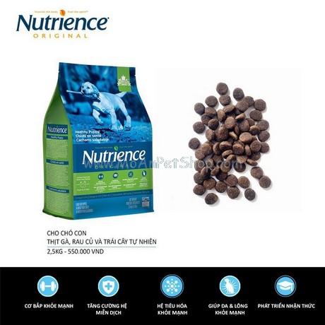 Nutrience ORIGINAL cho Cún con (Dưới 12 Tháng Tuổi) Thịt Gà, Rau Củ Và Trái Cây Tự Nhiên 500g